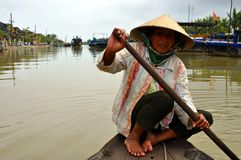 Typical fisherman from Vietnam Royalty Free Stock Images