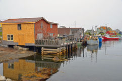 Typical fisherman village Stock Photos