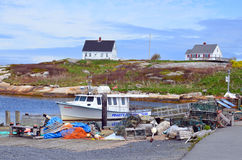 Typical fisherman village Royalty Free Stock Images