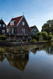Typical fisherman's house in Marken Stock Images