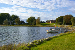 Typical fishermen village Funen Denmark Stock Photography