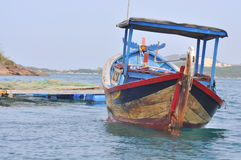 A typical fishing boat for small scale farmer in the coastaline of Vietnam Stock Photography
