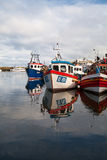 Typical fishing boats in the Scarborough harbor Royalty Free Stock Photography