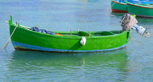 Typical fishing rowboats called gozzo Royalty Free Stock Image