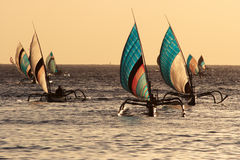 Typical fishing sailing boats Royalty Free Stock Images