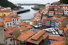 Typical fishing tonw. General view of Cudillero, Asturias, Spain. Typical fishing town Royalty Free Stock Photos