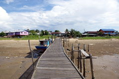 Typical fishing village. Scenery of a typical fishing village kuala rejang  a small coastal area village in sarawak Malaysia, north borneo Royalty Free Stock Photo