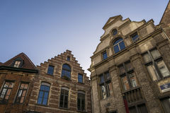Typical Flemish Belgium buildings Stock Image
