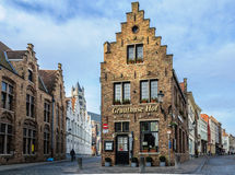 Typical Flemish house in Bruges, Belgium Stock Photo