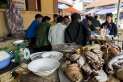 Typical food charged by weight eaten by local people at Sapa Vietnam Royalty Free Stock Images