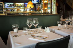 Typical France brasserie. Evening by typical France brasserie Royalty Free Stock Photography