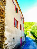 Typical French Ardeche house Royalty Free Stock Images