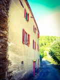 Typical French Ardeche house Royalty Free Stock Image