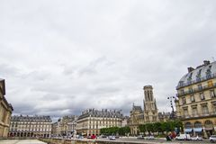 Typical French buildings Stock Photography