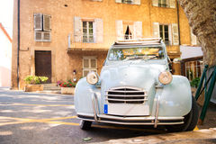 Typical French car at a square Stock Images