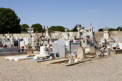 Typical French cemetery Stock Photo