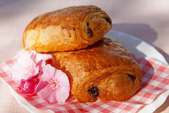 Typical French chocolate rolls Royalty Free Stock Photo