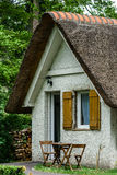 Typical french countryside house with thatch roof Royalty Free Stock Image