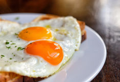 Typical french dish croque-madame Stock Photo