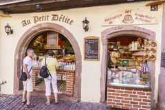 Typical French grocery store in Alsace, France. Royalty Free Stock Photography