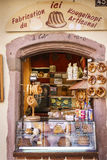 Typical French grocery store in Alsace, France. Royalty Free Stock Photos