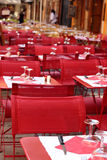 Typical French restaurant scene Royalty Free Stock Image