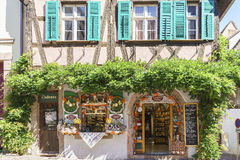 Typical French shops in Alsace, France. Royalty Free Stock Photos