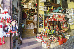 Typical French shops with souvenirs in Alsace, France. Stock Images