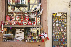 Typical French shops with souvenirs in Alsace, France. Stock Image