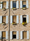 Typical French windows Royalty Free Stock Photos