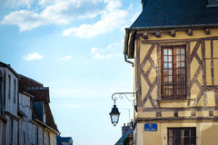 Typical french wood house detail Stock Photos