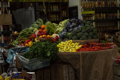 A typical Fruit and Vegetable Stand Royalty Free Stock Photos