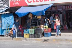 Typical fruits and vegetables street stall in david panama royalty free stock photo