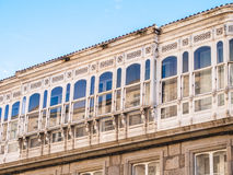 Typical Galician Balconies stock photography