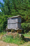 Typical galician granary called horreo Royalty Free Stock Images