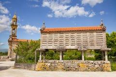 Typical Galician horreo (granary) Royalty Free Stock Photography