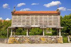 Typical Galician horreo (granary) Stock Photo