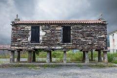 Typical Galician horreo (granary) Royalty Free Stock Photo