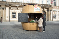 Gastronomic stand in Prague Stock Image