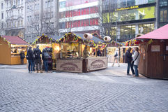Gastronomic stand in Prague Royalty Free Stock Images