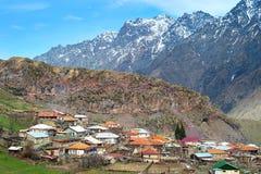 Typical georgian mountains village Royalty Free Stock Photos