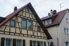 Typical German Fachwerk Haus Neighborhood Residential Architectu. Re Living House Royalty Free Stock Image