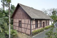 Typical German Half-Timbered Historical House Royalty Free Stock Photos