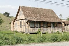 Typical German Half-Timbered Historical House Royalty Free Stock Photography
