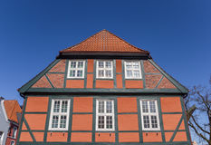 Typical german half timbered house at the Fish Market in Stade Royalty Free Stock Photos