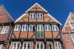 Typical German half timbered house in Hanseatic city Stade Stock Photos