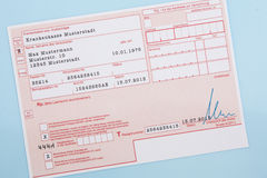 Typical german medical prescription Royalty Free Stock Images