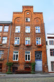 Typical German residential house in Lubeck Stock Photography