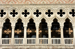 Typical gothic arch in Venice. Typical Venice archs and windows in the gothic Doge's Palace Stock Images