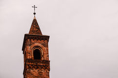 Typical Gothic Belfry Church Tower Royalty Free Stock Photos